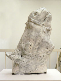 "Thomas Virnich, ""Himmelsross"", 2001-2008, Keramik, Farbe, 75 x 57 x 23 cm, Unikat"