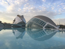 Hemisferio Plau de les Arts Valencia Stadt der Künste Calatrava