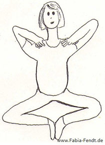 Yoga gegen Sodbrennen: Armen senken