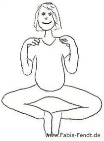 Yoga gegen Sodbrennen: Arme heben