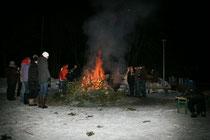 Weihnachtsbaum-Verbrennen 2010