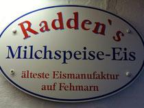 Bild: Radden´s Milchspeise-Eis - älteste Eismanufaktur auf Fehmarn