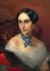 Т. Нефф*(Макаров) Н. Н. Пушкина-Ланская. Масло. 1856 (?)