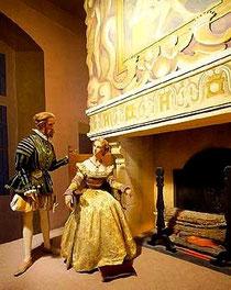 Король Генрих II и Диана де Пуатье. Восковые фигуры