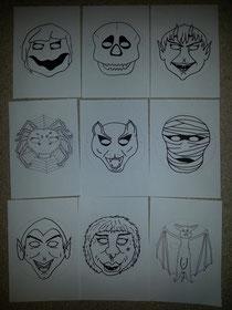 Grusel-Masken