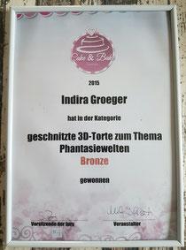 BRONZE in der Kategorie geschnitzte 3D Torte in Dortmund 2015