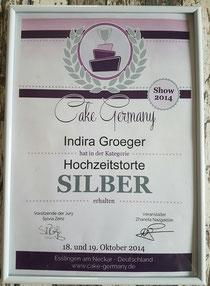 SILBER in der Kategorie Hochzeitstorte Esslingen 2014
