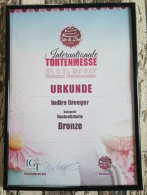 BRONZE in der Kategorie Hochzeitstorte in Dortmund 2017