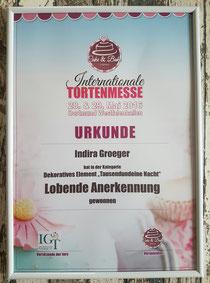 LOBENDE ANERKENNUNG in der Kategorie dekoratives Element in Dortmund 2016