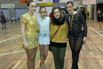 Rebeca Franqueza, Maria Carbó, Judith Vicente (entrenadora) i Paula Bonillo