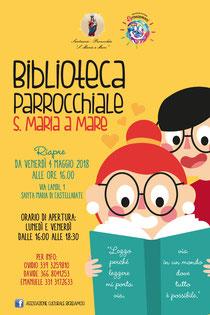 """Biblioteca Parrocchiale S.Maria a Mare a cura dell'Associazione Culturale """"RICREIAMOCI"""""""