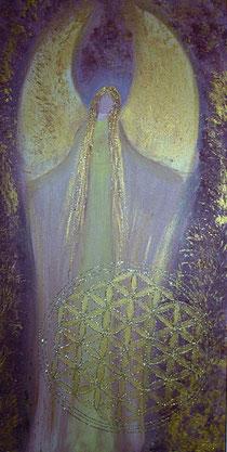 Engel der Vollkommenheit gemalt in Acryl auf Leinwand