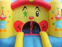 Hüpfburg Clown mit Rutsche