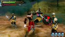 アンデッドナイツ。基本は三國無双的なアクションゲーム。大きく違うところは敵を掴んでゾンビ化し、味方にできるところ。