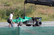 2013-08-31 Crash Historic GP Zandvoort