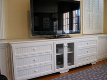 bead board wall unit