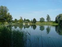 Oberaltwassersee mit Fischerhütte