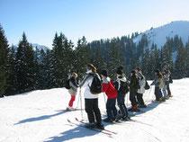 Skikurs am Stümpfling. Auch ein Wasmeier hat mal so angefangen