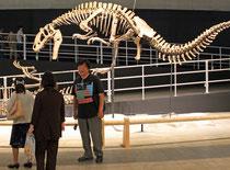 筆者が最後に撮影した金子隆一氏。2012年8月、幕張の恐竜展会場で。