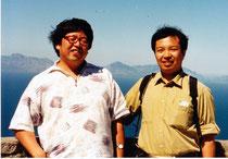 金子氏と筆者。喜望峰で。たぶん中野美鹿氏撮影。
