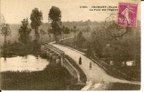 Le pont de Cromary avant sa destruction pendant la guerre