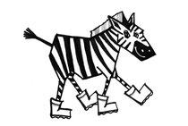 Leo Luna gestiefeltes Zebra gestiefelter Kater Kinderschuhe
