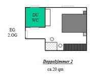 Grundriss Doppelzimmer 2