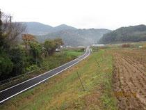 軽便鉄道はお米プロジェクト'09の田圃のすぐそばを走っていた。(現在は遊歩道)