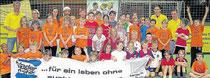 Die Werte Fairness, Integration und Toleranz beim Fußballerleben: Die vierten Klassen der Cornelia-Funke-Schulein Gemünden haben sich bei einem Fußball-Turnier gemessen. In jedem Team musste auch ein Mädchen mitspielen.
