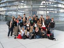 Nach dem Vortrag im Plenarsaal ging es auf die Terrasse vor der Reichstagskuppel