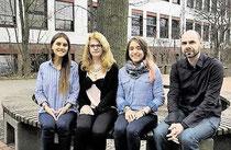 Besuch aus Uruguay an der KGS: Milagros Schmidt (von links), Gastgeberin Fidelia Siegismund, Sofia Lousada und Spanischlehrer Stefan Sippel. (haz)