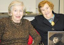 Die gebürtige Sehnderin Gerda Wassermann (großes Bild, links) ist mit Freundin Gigi Strauss in der KGS zu Gast. An ihre von den Nazis ermordete Mutter Thea Rose (kleines Bild) erinnert eine Gedenktafel auf dem Jüdischen Friedhof in Bolzum. (Dettmer)