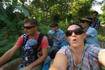 Bambootrain mit Vy und Jan