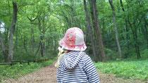八国山緑地での一コマ。長女を後ろから撮りました。
