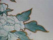 détail mûres, fibre de verre, pigment métallique