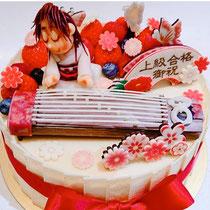 お琴ケーキ