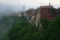 ハイデルベルクの古城ホテル。13世紀に建てられた要塞をホテルに改造したもので騎士のお化けが出ます