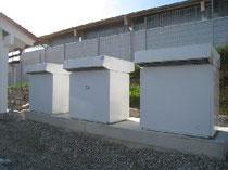 Die drei Luft / Wasser - Wärmepumpen WPL 23 in Kaskaden versorgen das neue Gebäude dank der Nutzung erneuerbarer Energie aus der Umgebungsluft hocheffizient mit Wärme