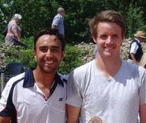 Marc Sieber und Turniersieger Dennis Bloemke (v.l.)