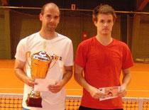 Turniersieger Christian Haupt (l.) und Finalist Dennis Bloemkee