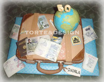 valigia, mappamondo, viaggi, passaporto