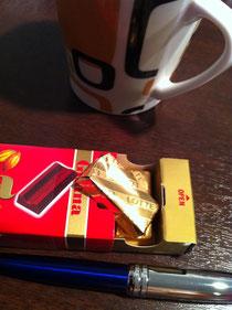 朝のチョコレート