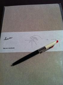 この秋のノートとボールペン ファニーフェイス