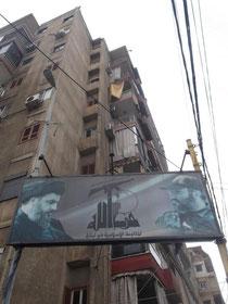 Hisbollah-Plakat in Beirut