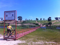 Erster Ausflug mit dem Fahrrad