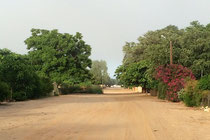 Mein Arbeitsweg - am Ende dieser Strasse links ist mein Haus.