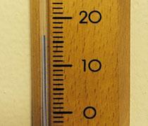 16 Grad war es heute Morgen in meinem Haus