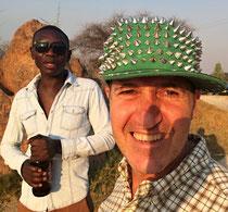 Lucas Jerome und ich mit seiner Mütze