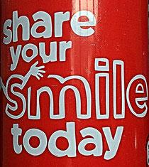 Teile heute dein Lächeln!
