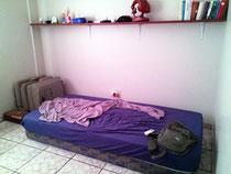Mein improvisierter Schlafplatz